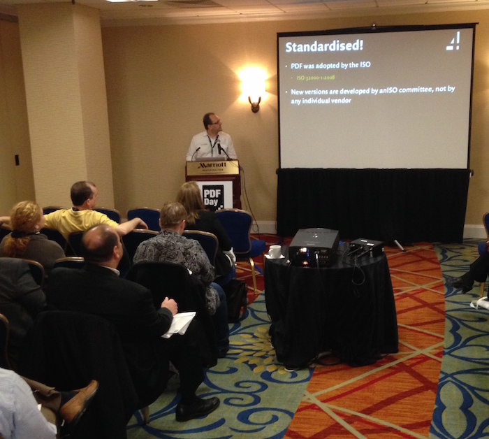 A session in progress at PDF Day Washington DC