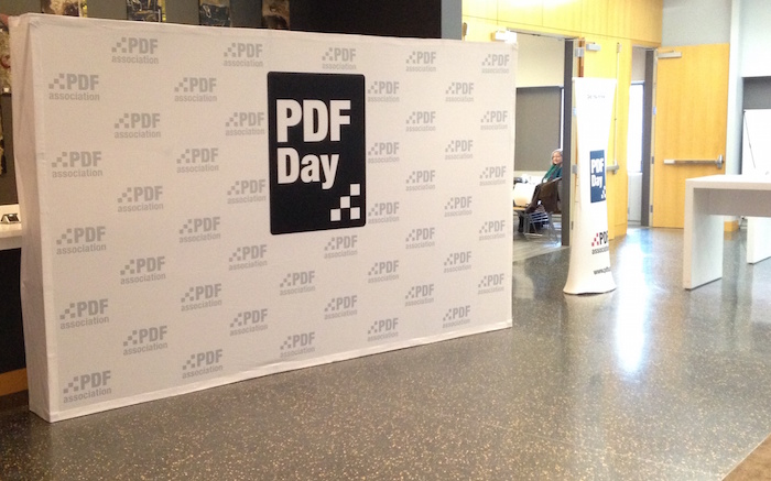 PDF Day backdrop in New York City