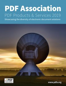 PDF Products & Services 2019. Showcasing the diversity of electronic document solutions.
