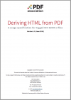Cover of Deriving HTML from PDF.
